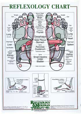 Reflexology Treatment. inge dougans chart